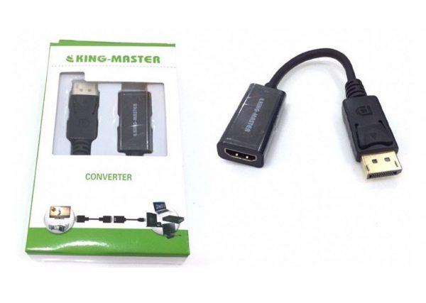 Cáp chuyển Displayport sang HDMI 4K Kingmaster (KY-D253B)