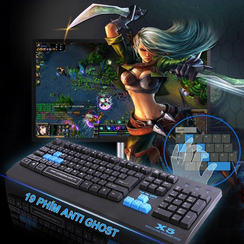 Bàn Phím COOLERPLUS GAMING X5 bàn phím coolerplus gaming x5