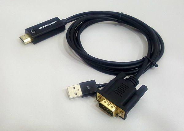 Cáp chuyển HDMI sang VGA + USB Kingmaster (KY-H129B)