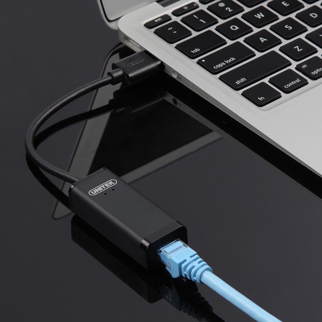 Cáp chuyển USB 3.0 to Lan UNITEK (Y-3470BK)